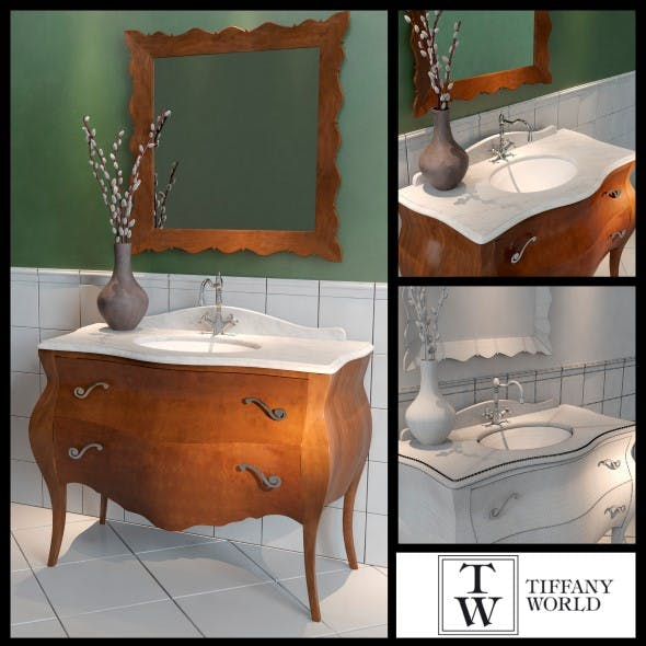 Washbasin Tiffany World Barocco