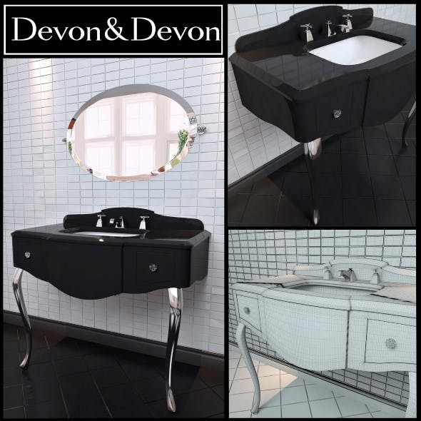 Washbasin Devon and Devon console Miami