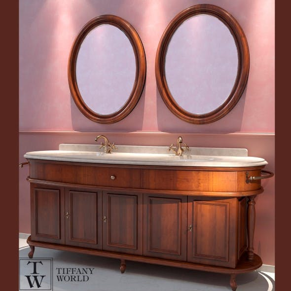 Washbasin Tiffany World Firenze - 3DOcean Item for Sale