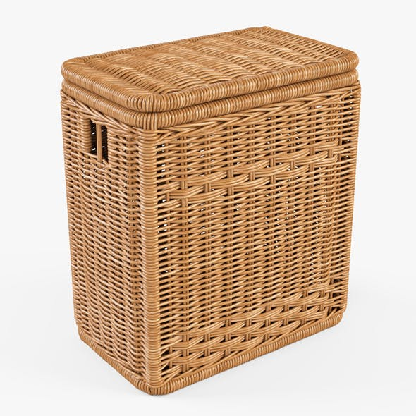 Wicker Laundry Hamper 08 (Natural Color) - 3DOcean Item for Sale