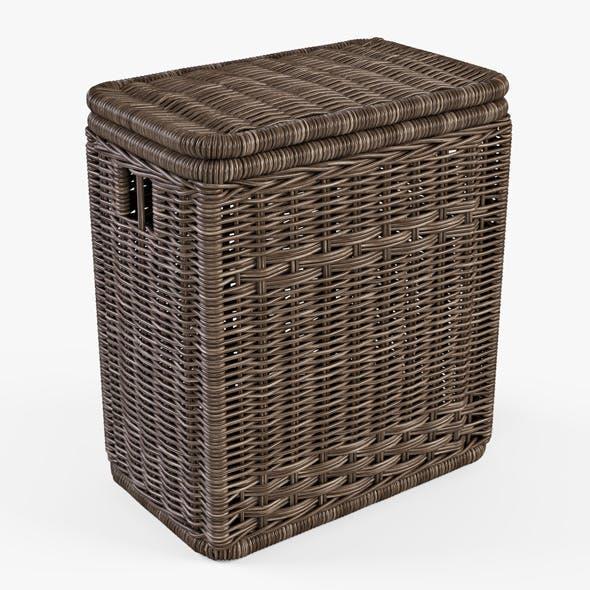 Wicker Laundry Hamper 08 (Brown Color) - 3DOcean Item for Sale