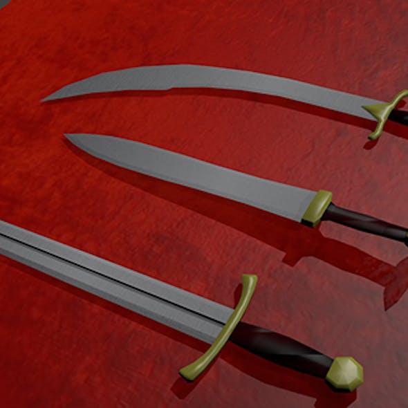 Three types of swords