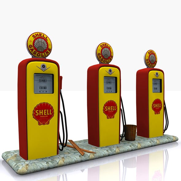 Gas Pump Shell - 3DOcean Item for Sale