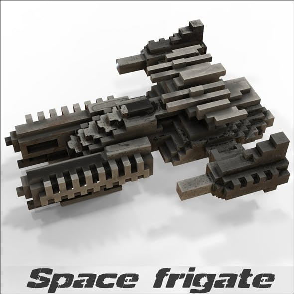 Space frigate (voxel model)