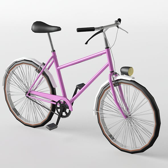 City Bike Lowpoly