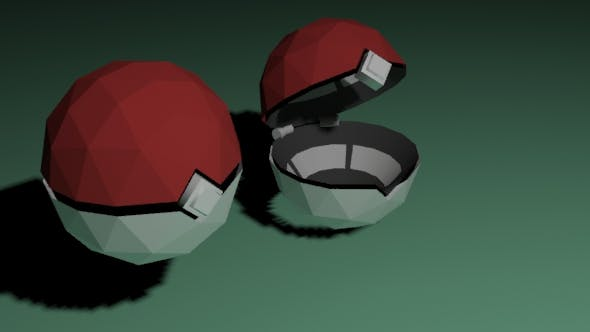 Low Poly Pokeball - 3DOcean Item for Sale
