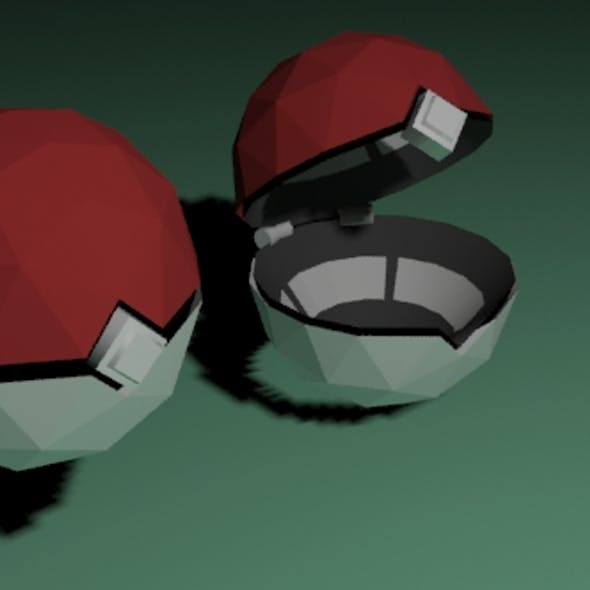 Low Poly Pokeball