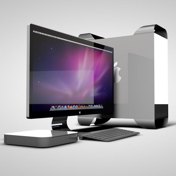 AppleBlackMacPro - 3DOcean Item for Sale