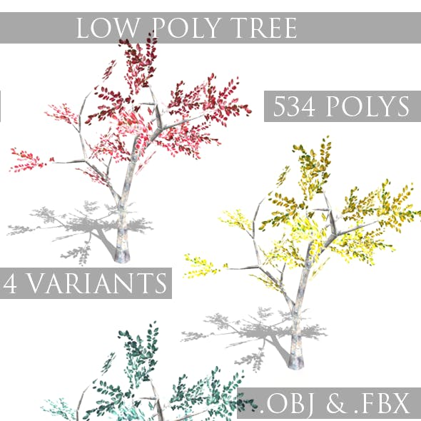 Seasonal Low Poly Tree