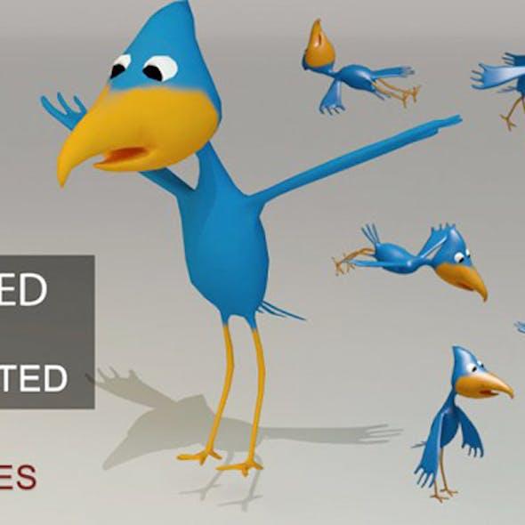 Low Poly Cartoon Bird - Rigged