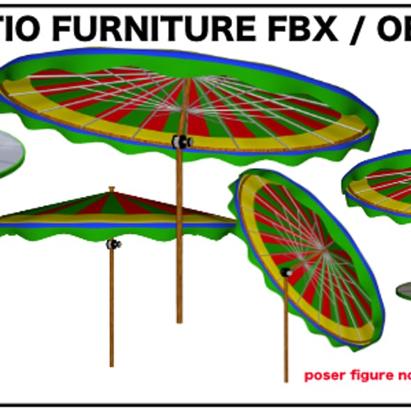 Patio Set fbx and object