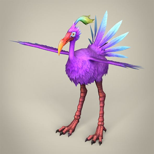 Game Ready Fantasy Bird Ibis - 3DOcean Item for Sale