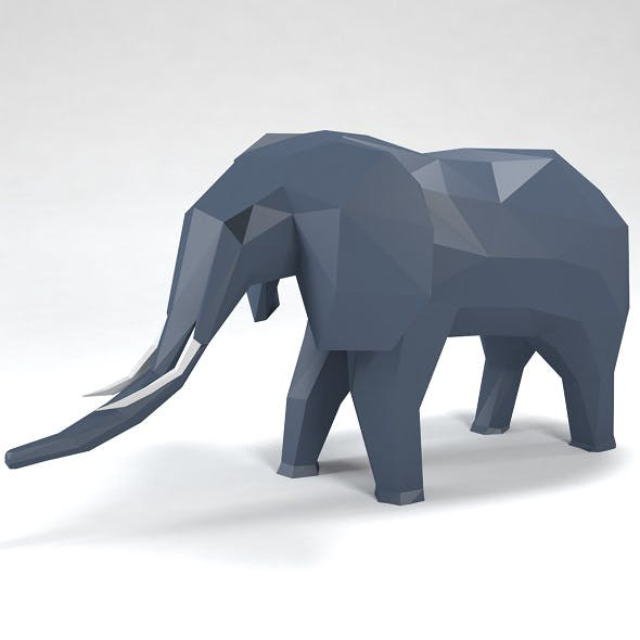 elephant low poly style