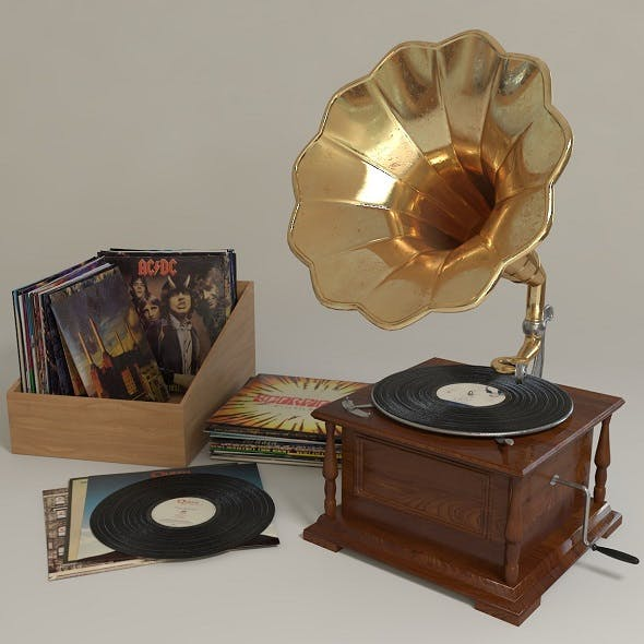 phonograph - 3DOcean Item for Sale