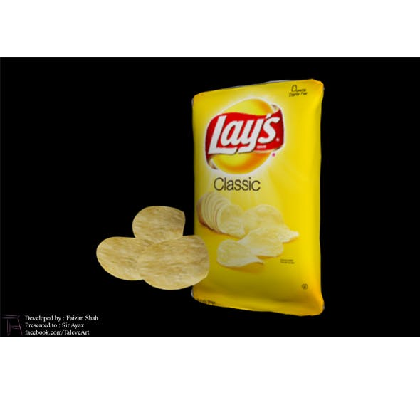 LAYS CHIPS PACKET - 3DOcean Item for Sale