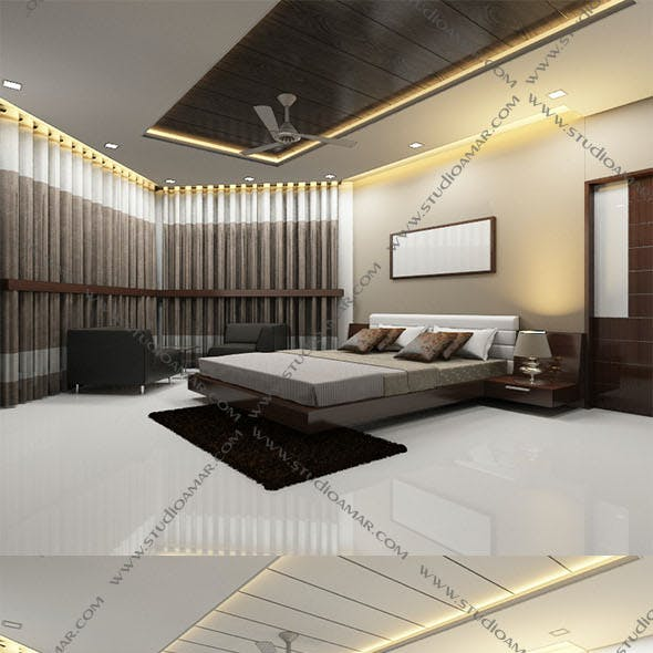 Realistic Modern bedroom 140