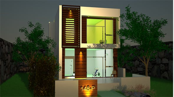 Exterior House Design - 3DOcean Item for Sale