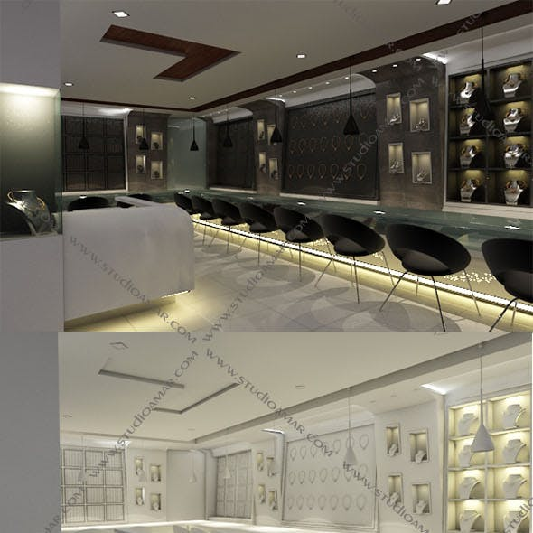 Realistic jewellery showroom 146