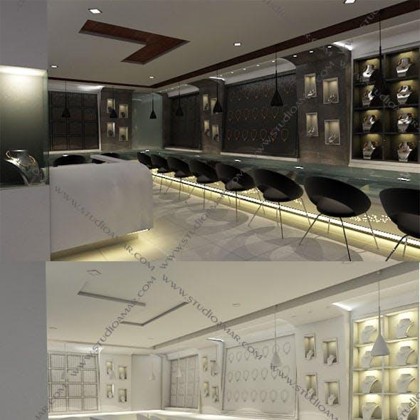 Realistic jewellery showroom 146