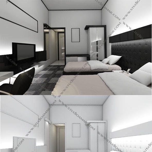 Realistic Modern bedroom 149