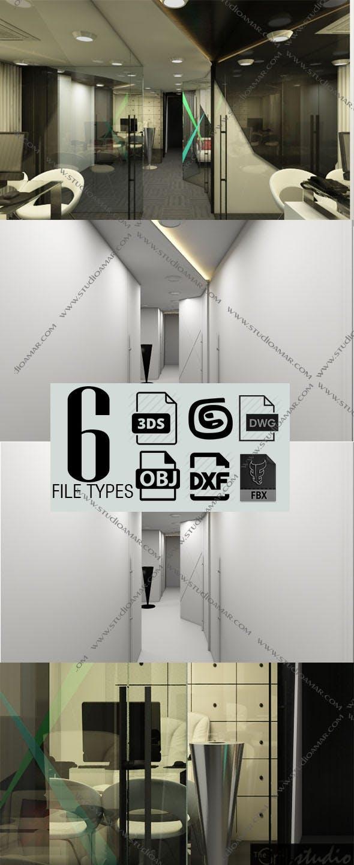 Realistic workspace 3D 151 - 3DOcean Item for Sale