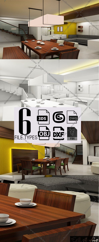 Realistic resort interior 3D 153 - 3DOcean Item for Sale