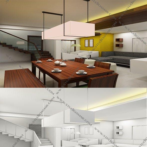 Realistic resort interior 3D 153