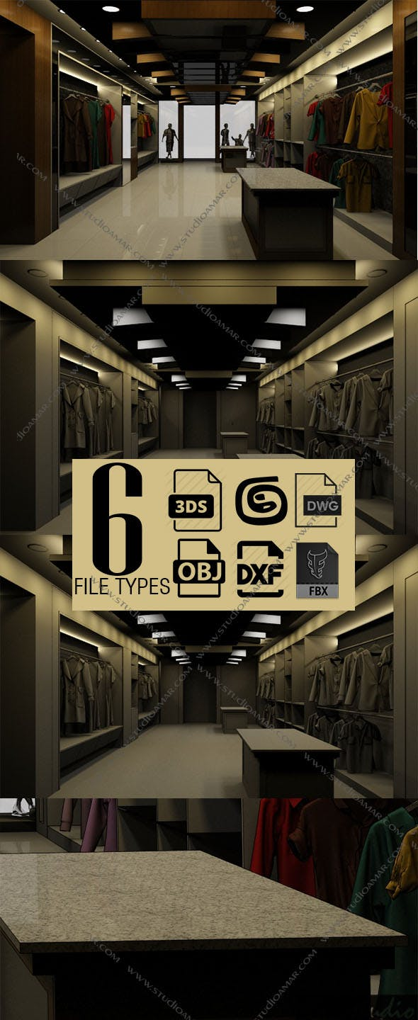 Realistic textile showroom 155 - 3DOcean Item for Sale