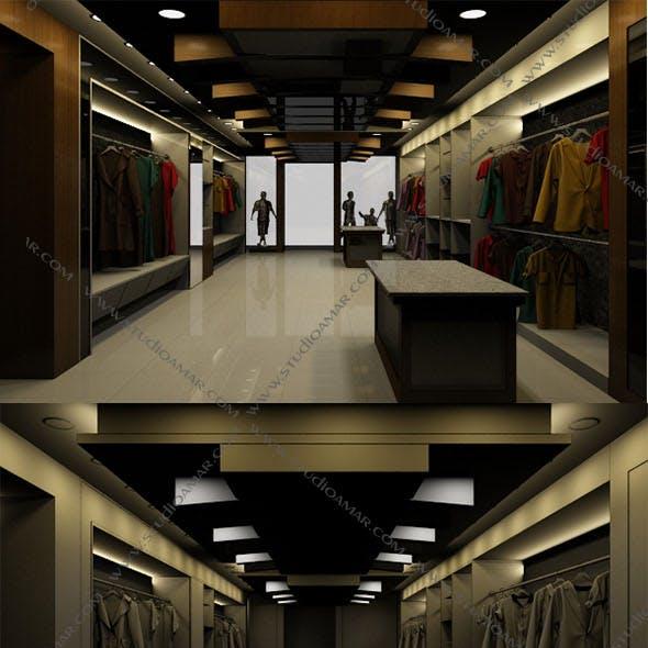 Realistic textile showroom 155