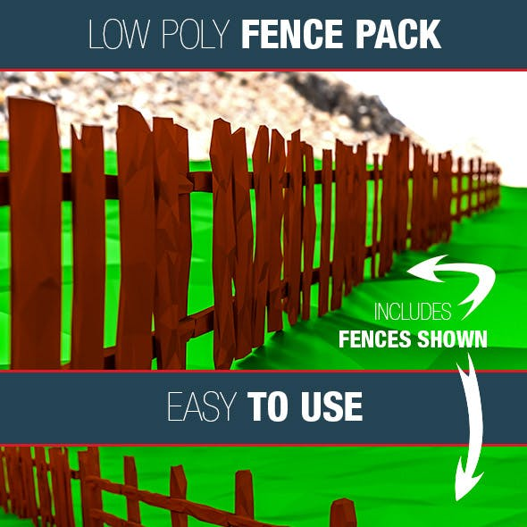 Low Poly Fence Pack
