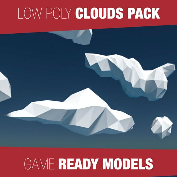 Low Poly Cloud Pack