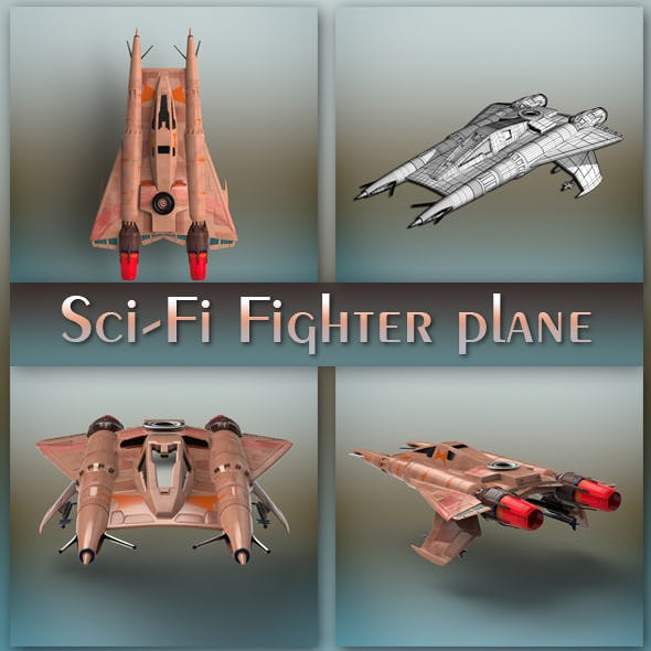 Sci-Fi Fighter plane