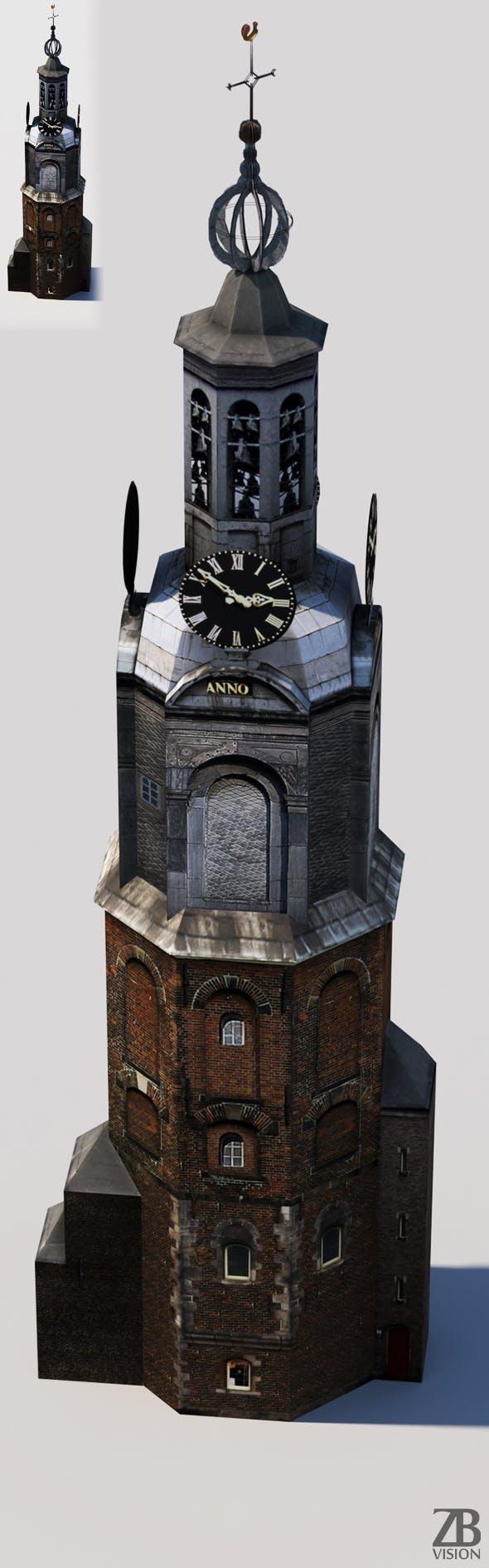 Munttoren - 3DOcean Item for Sale