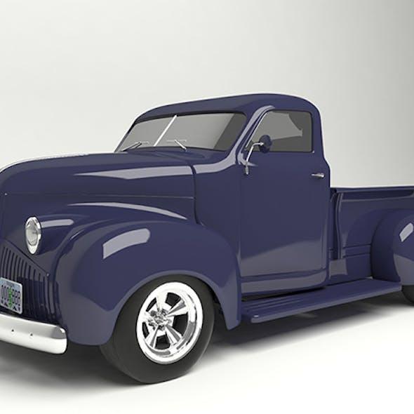 3D model pickup based on Studebaker M5 1948.