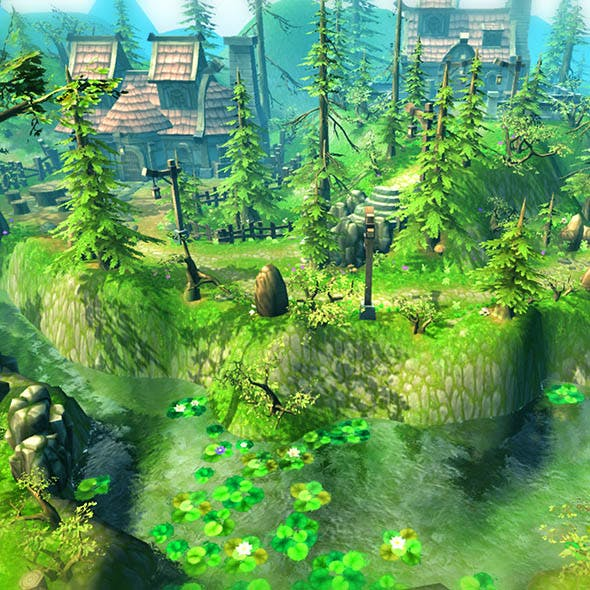 Fantasy Village Environment  - 3DOcean Item for Sale
