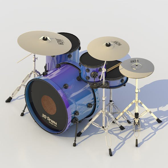 DRUM SET PERCUSSION MUSIC INSTRUMENT KIT & CYMBALS