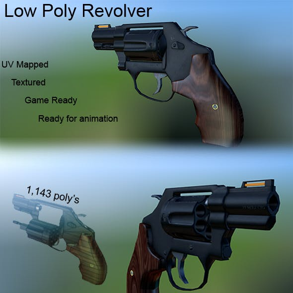 Low Poly Revolver