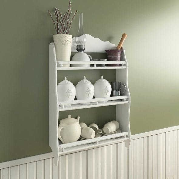 Provence shelf with decor