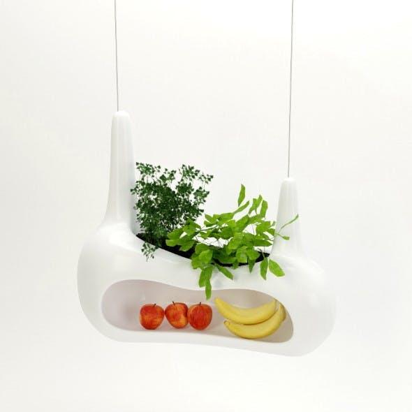 Bananas, apples and greens