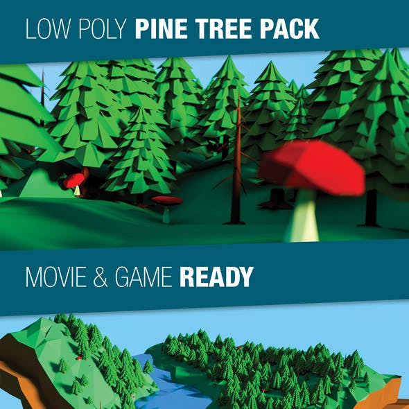 Low Poly Pine Trees Pack