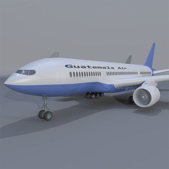 Boeing 777 Airplane - 3DOcean Item for Sale