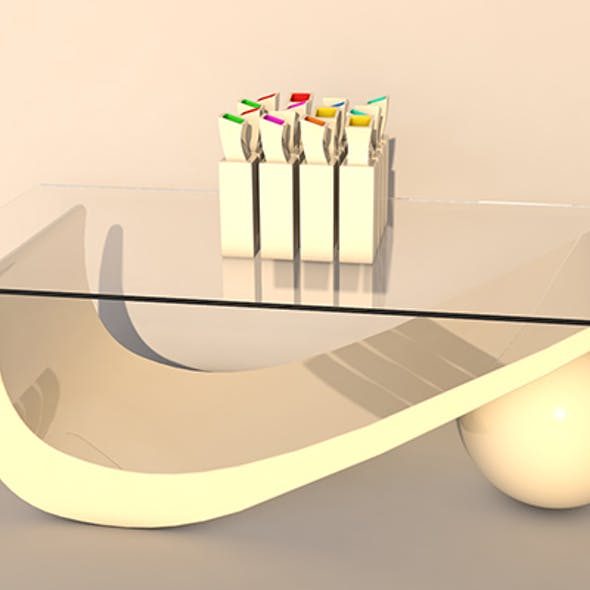 table modern wth vase