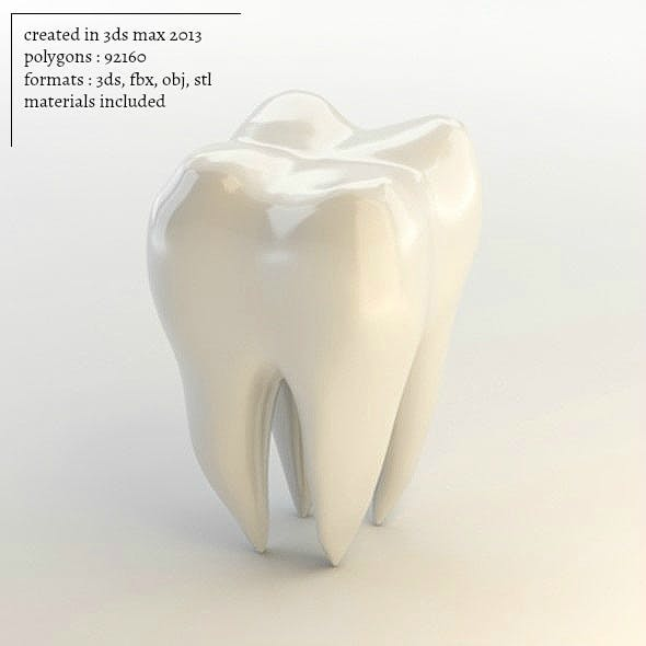 Tooth 3D - 3DOcean Item for Sale