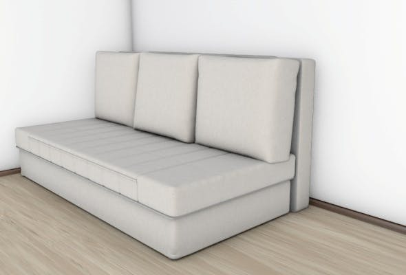 Realistic Bed with Materials - 3DOcean Item for Sale