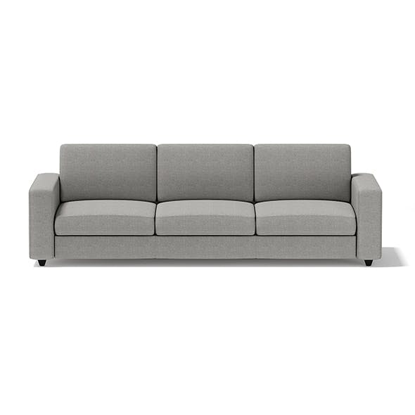 Grey Three Seat Sofa - 3DOcean Item for Sale