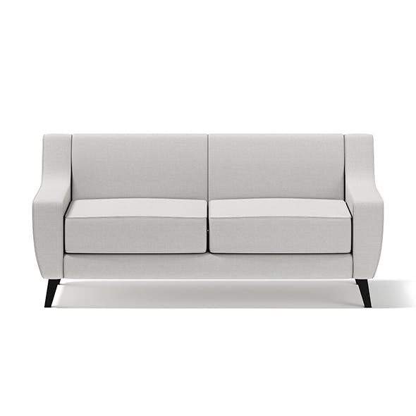 Light-Grey Two Seat Sofa