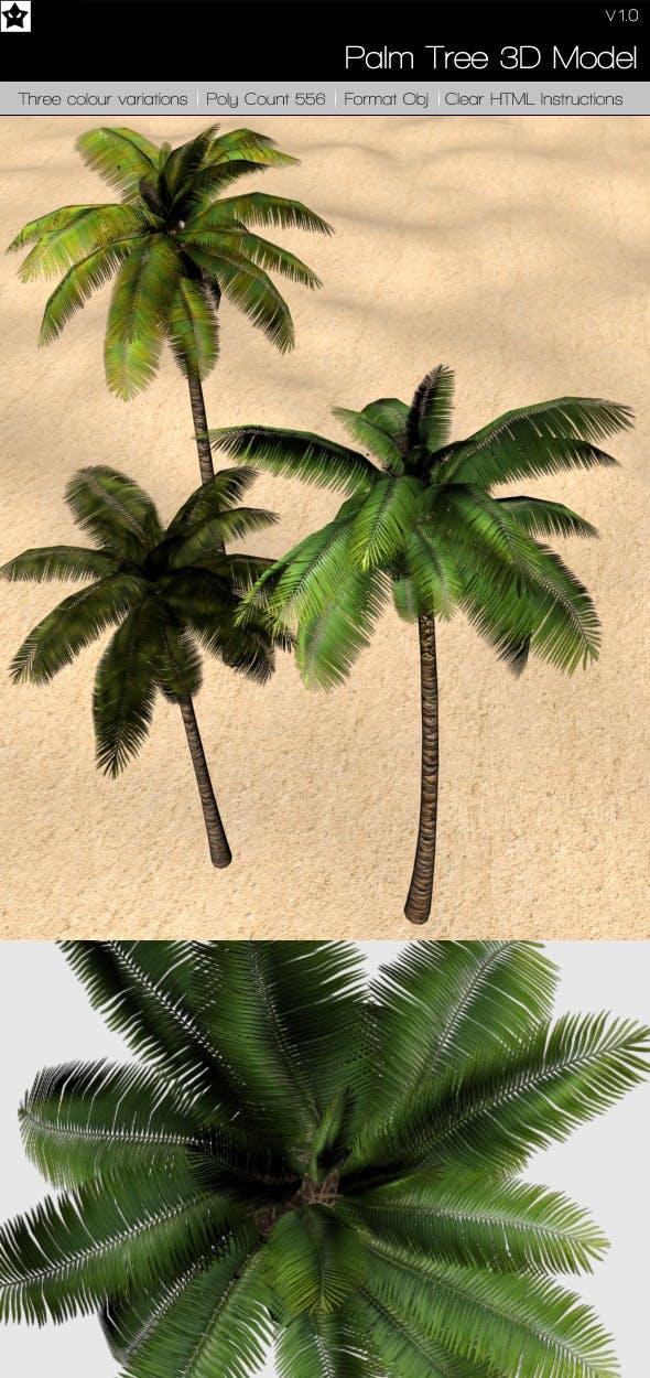 Palm Tree 3D Model - 3DOcean Item for Sale