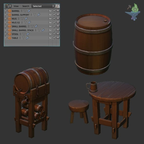 Medieval Tavern Barrel