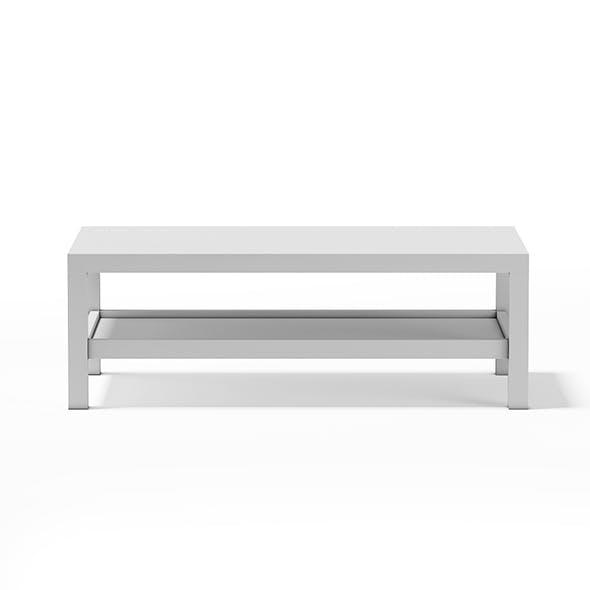 White Rectangular Coffee Table