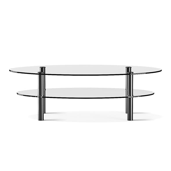 Eliptical Glass Coffee Table - 3DOcean Item for Sale